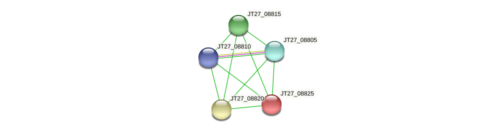 JT27_08825 protein (Alcaligenes faecalis) - STRING interaction network