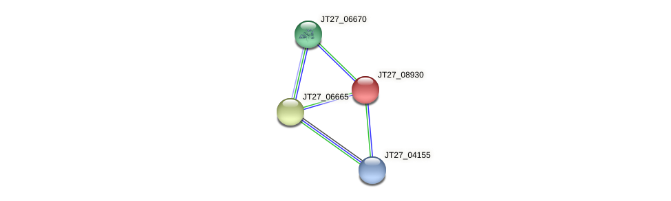 JT27_08930 protein (Alcaligenes faecalis) - STRING interaction network