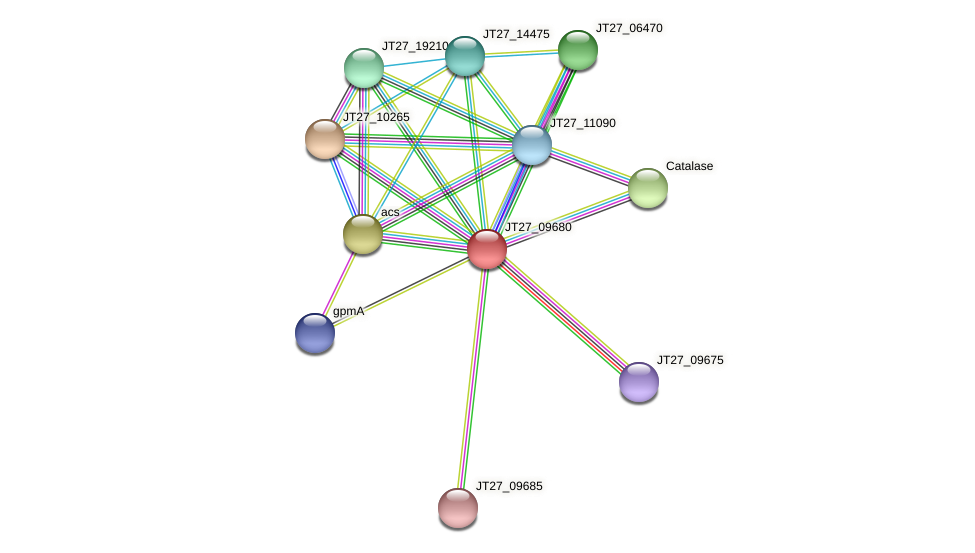 JT27_09680 protein (Alcaligenes faecalis) - STRING interaction network