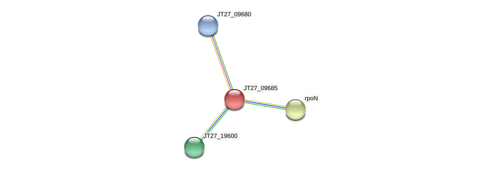 JT27_09685 protein (Alcaligenes faecalis) - STRING interaction network