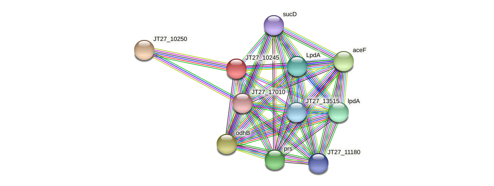 JT27_10245 protein (Alcaligenes faecalis) - STRING interaction network