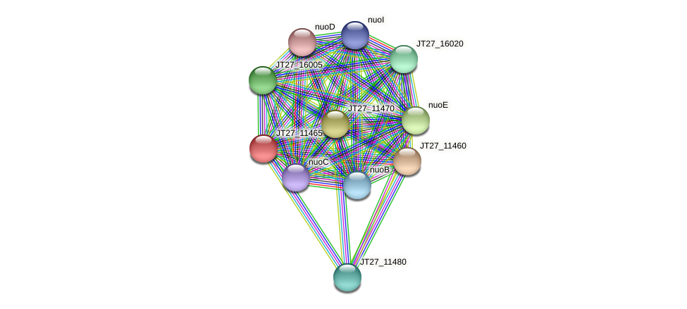 JT27_11465 protein (Alcaligenes faecalis) - STRING interaction network