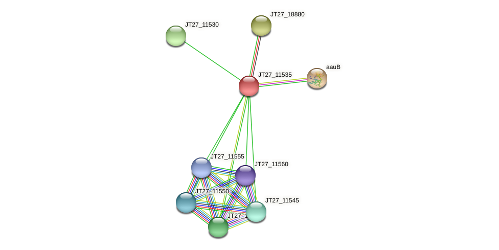 JT27_11535 protein (Alcaligenes faecalis) - STRING interaction network