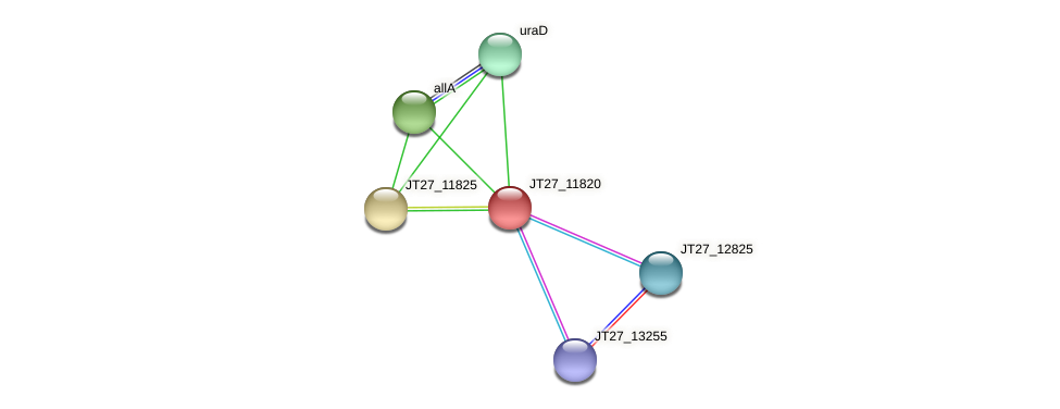JT27_11820 protein (Alcaligenes faecalis) - STRING interaction network