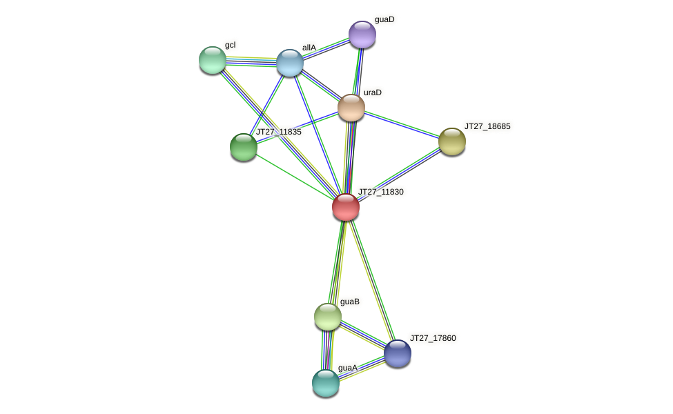 JT27_11830 protein (Alcaligenes faecalis) - STRING interaction network