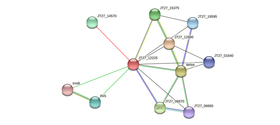 JT27_12225 protein (Alcaligenes faecalis) - STRING interaction network