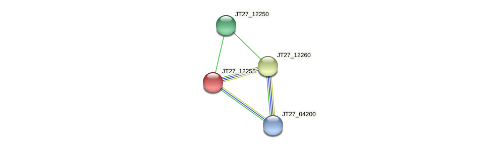 JT27_12255 protein (Alcaligenes faecalis) - STRING interaction network