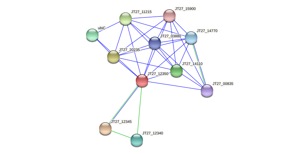 JT27_12350 protein (Alcaligenes faecalis) - STRING interaction network