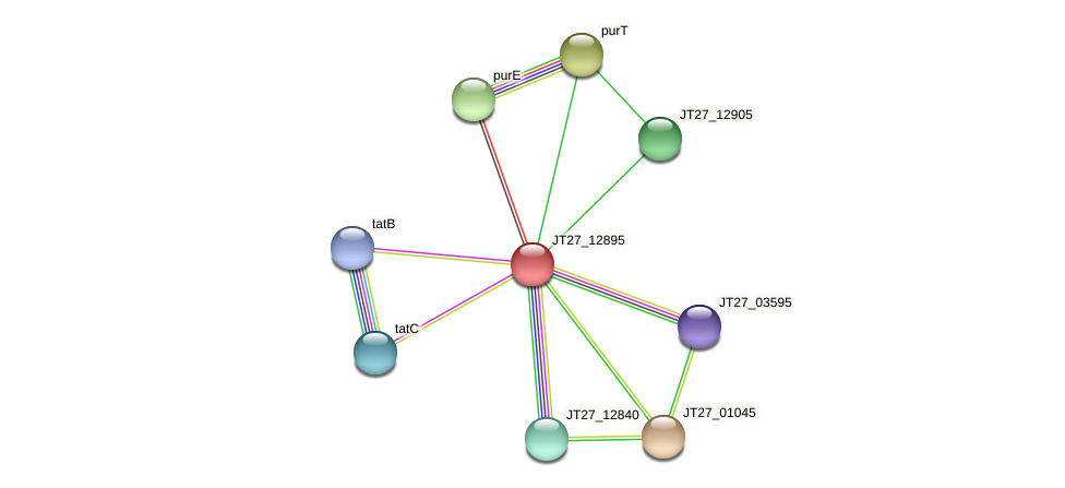 JT27_12895 protein (Alcaligenes faecalis) - STRING interaction network
