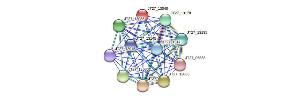 JT27_13040 protein (Alcaligenes faecalis) - STRING interaction network