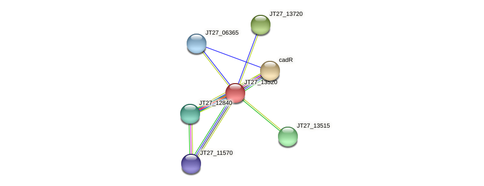 JT27_13520 protein (Alcaligenes faecalis) - STRING interaction network