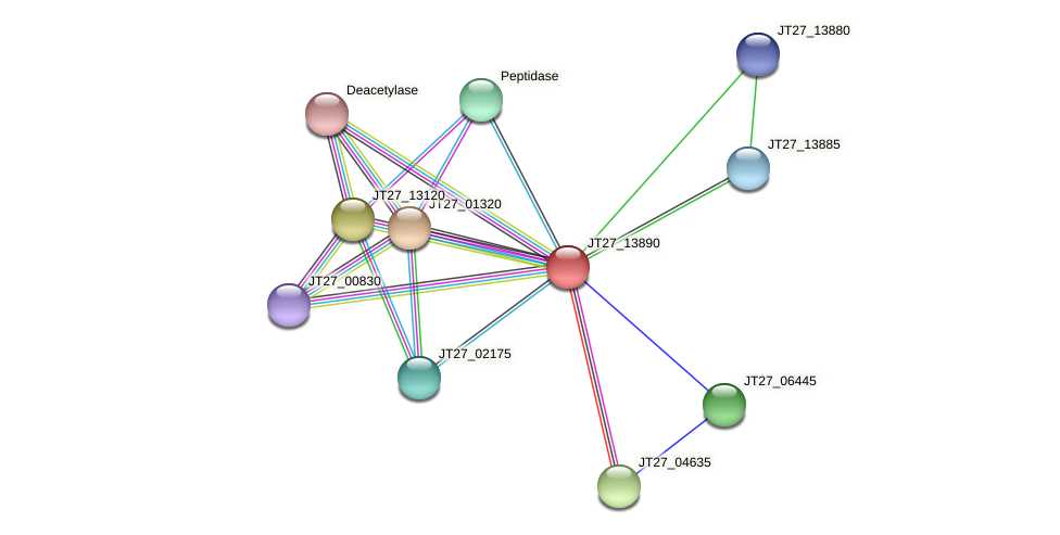 AFA_14480 protein (Alcaligenes faecalis) - STRING interaction network