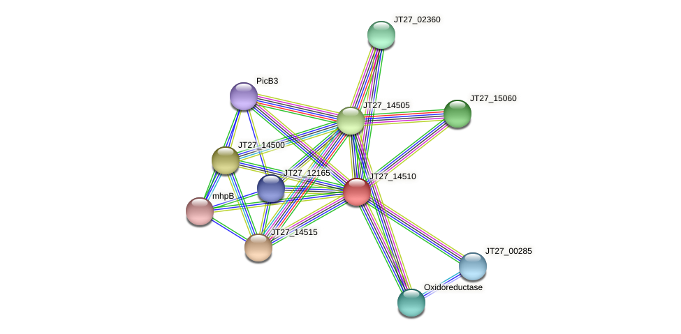 JT27_14510 protein (Alcaligenes faecalis) - STRING interaction network