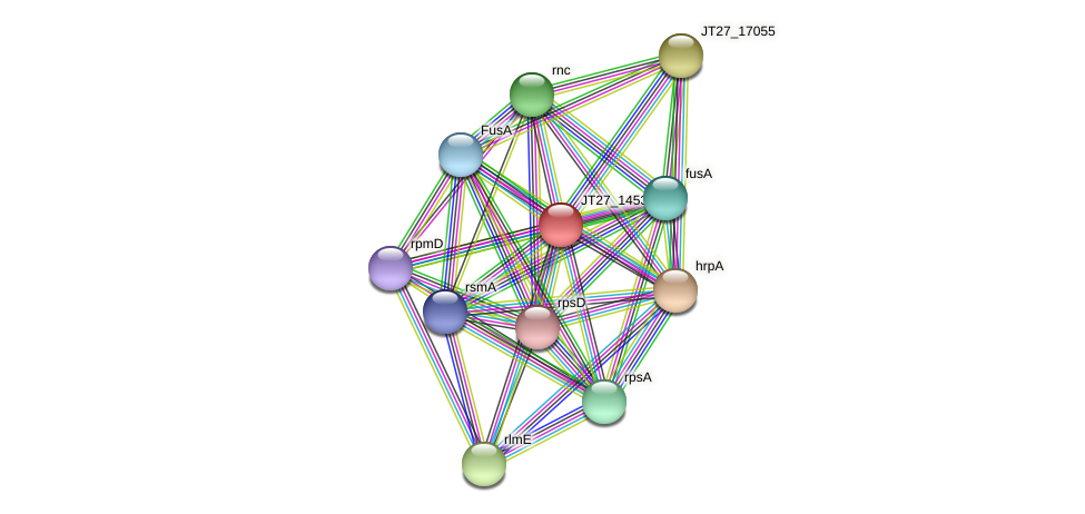 JT27_14530 protein (Alcaligenes faecalis) - STRING interaction network