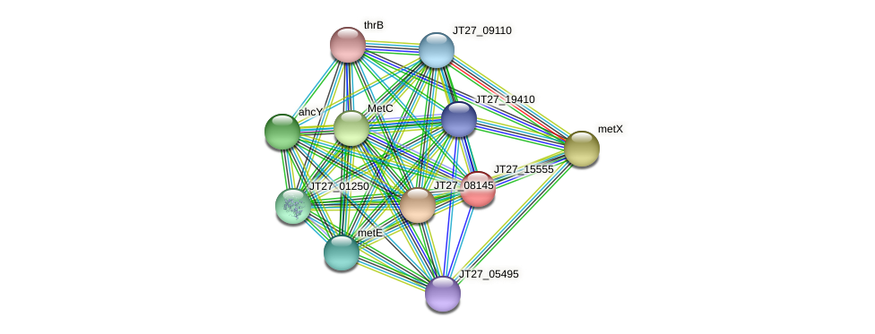 JT27_15555 protein (Alcaligenes faecalis) - STRING interaction network