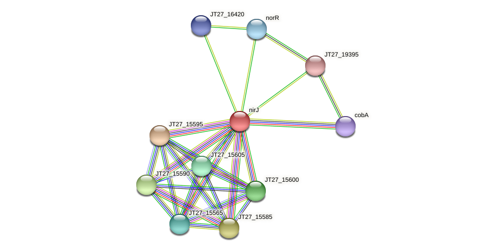 JT27_15580 protein (Alcaligenes faecalis) - STRING interaction network
