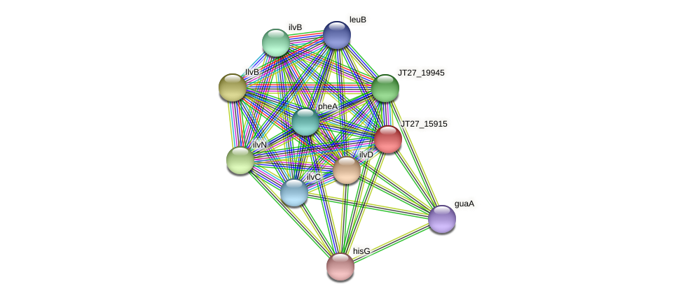 JT27_15915 protein (Alcaligenes faecalis) - STRING interaction network
