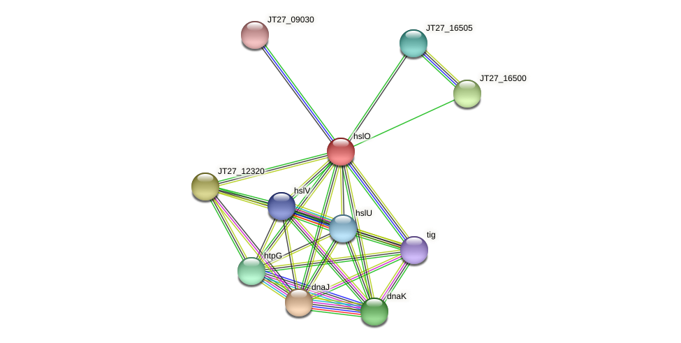 JT27_16495 protein (Alcaligenes faecalis) - STRING interaction network