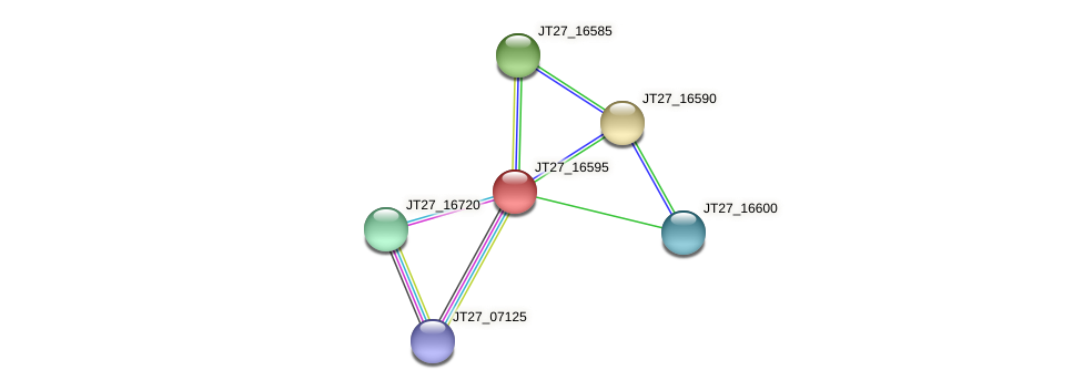 JT27_16595 protein (Alcaligenes faecalis) - STRING interaction network
