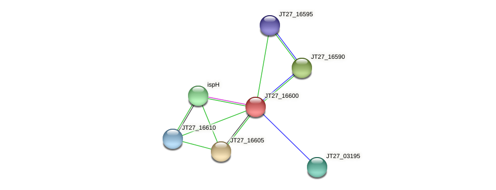 JT27_16600 protein (Alcaligenes faecalis) - STRING interaction network