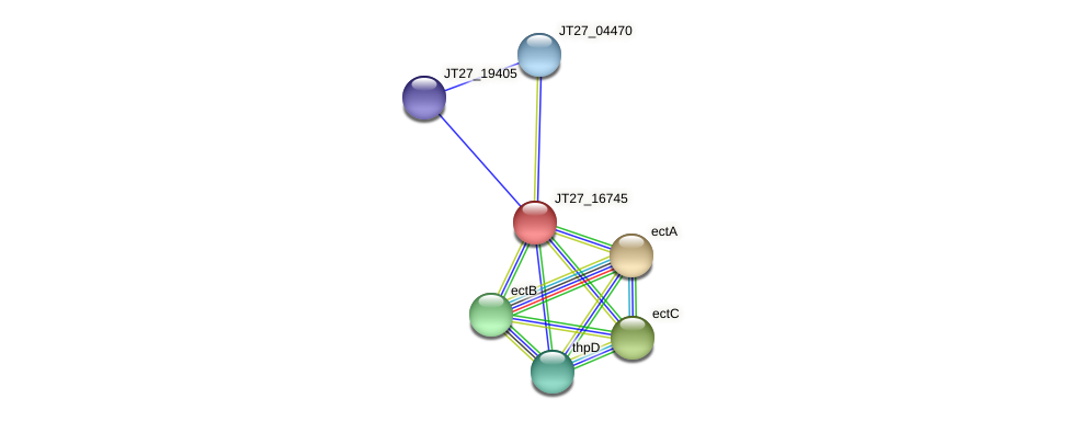 JT27_16745 protein (Alcaligenes faecalis) - STRING interaction network