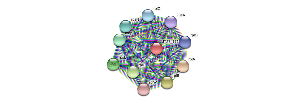 JT27_17115 protein (Alcaligenes faecalis) - STRING interaction network