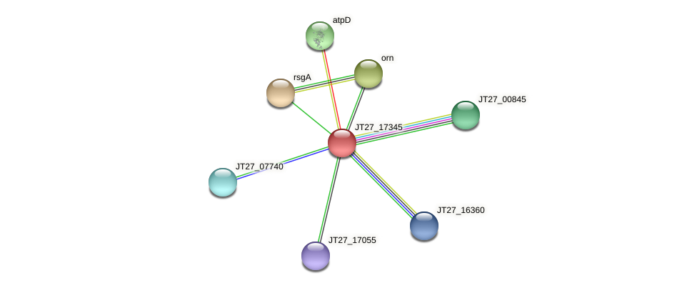 JT27_17345 protein (Alcaligenes faecalis) - STRING interaction network