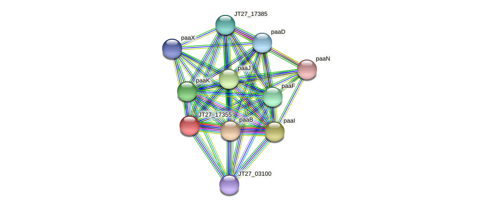JT27_17355 protein (Alcaligenes faecalis) - STRING interaction network