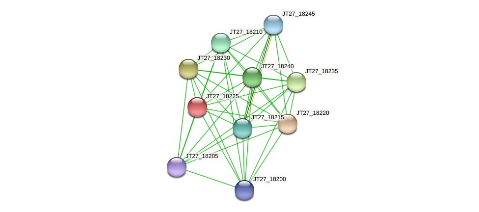 JT27_18225 protein (Alcaligenes faecalis) - STRING interaction network