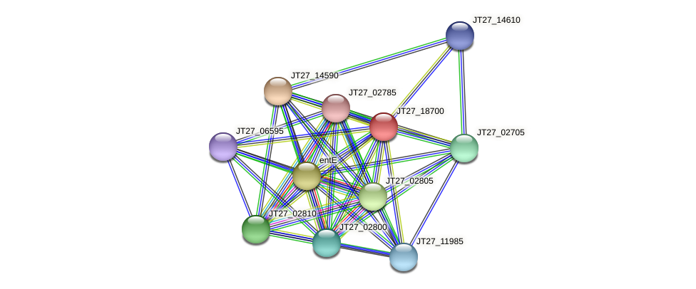 JT27_18700 protein (Alcaligenes faecalis) - STRING interaction network