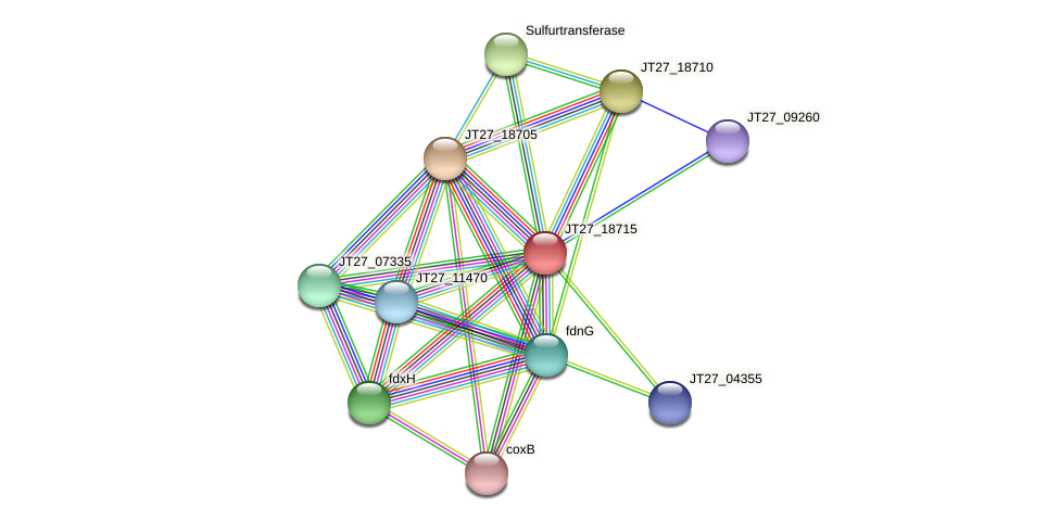 JT27_18715 protein (Alcaligenes faecalis) - STRING interaction network