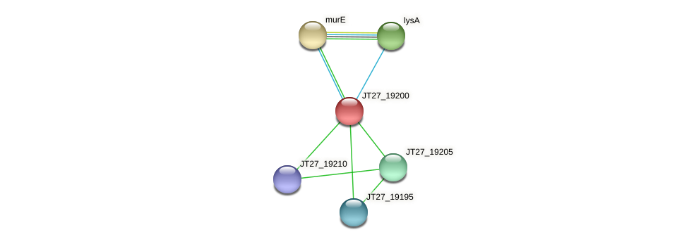 JT27_19200 protein (Alcaligenes faecalis) - STRING interaction network