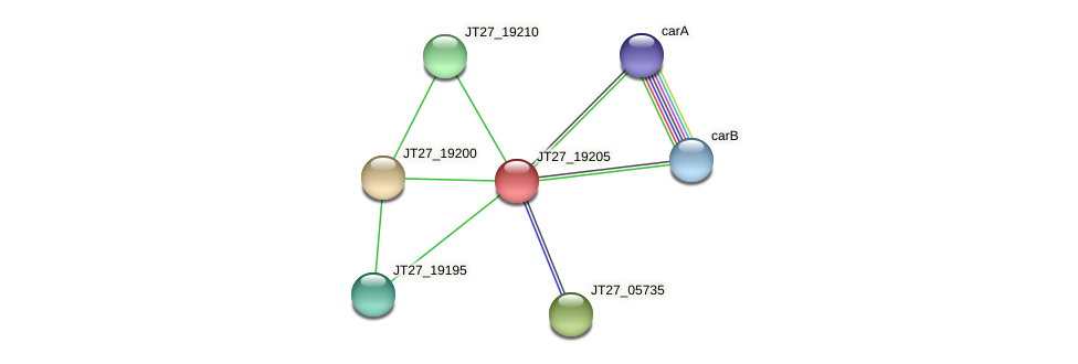 JT27_19205 protein (Alcaligenes faecalis) - STRING interaction network