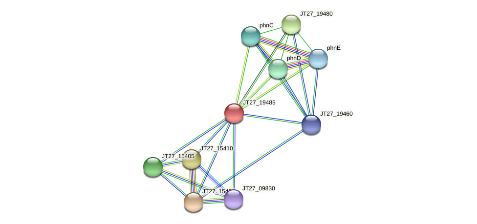 JT27_19485 protein (Alcaligenes faecalis) - STRING interaction network