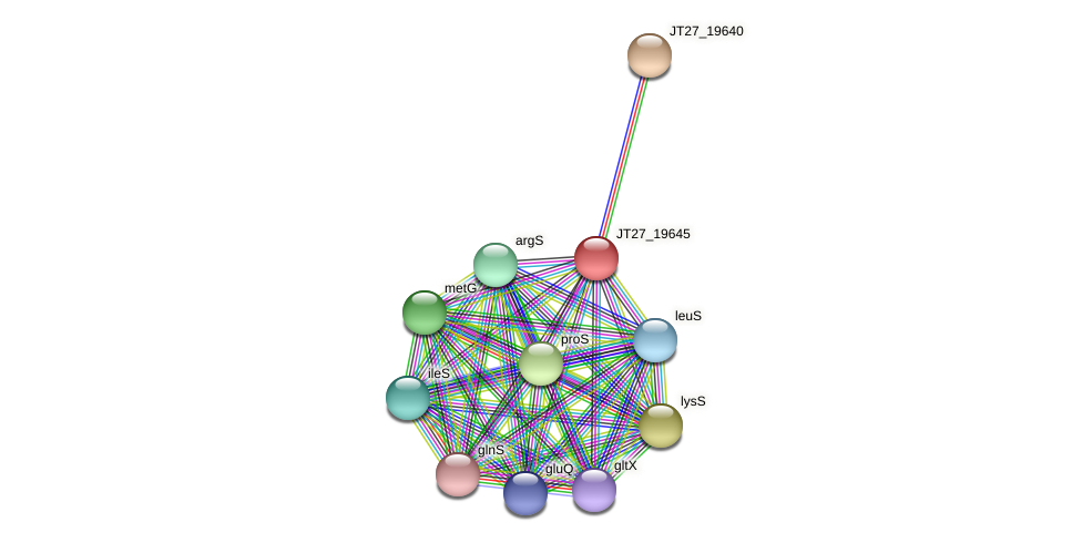 JT27_19645 protein (Alcaligenes faecalis) - STRING interaction network