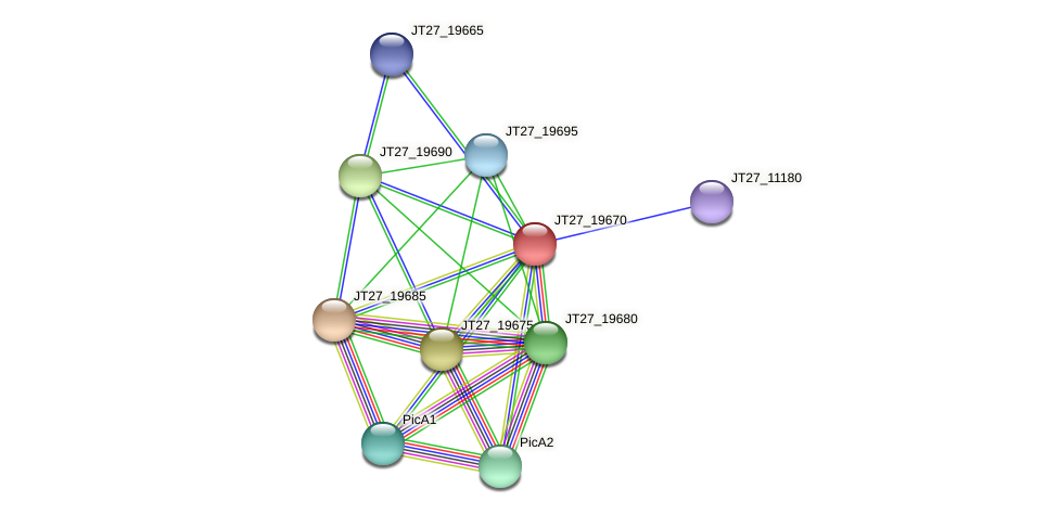 JT27_19670 protein (Alcaligenes faecalis) - STRING interaction network