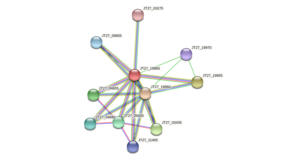 JT27_19965 protein (Alcaligenes faecalis) - STRING interaction network