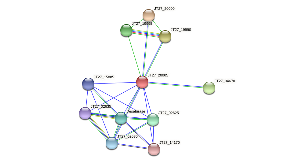 JT27_20005 protein (Alcaligenes faecalis) - STRING interaction network