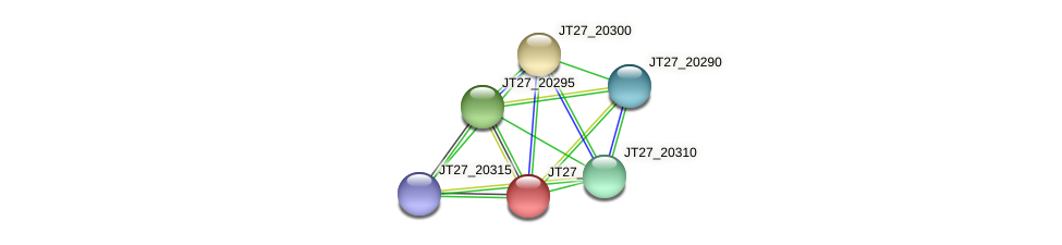 JT27_20305 protein (Alcaligenes faecalis) - STRING interaction network