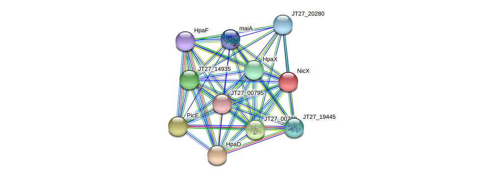 JT27_20330 protein (Alcaligenes faecalis) - STRING interaction network