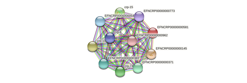 EFNCRP00000000581 protein (Neurospora crassa) - STRING interaction network