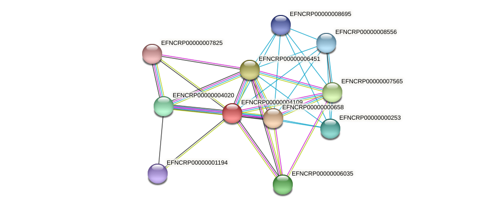 EFNCRP00000004109 protein (Neurospora crassa) - STRING interaction network