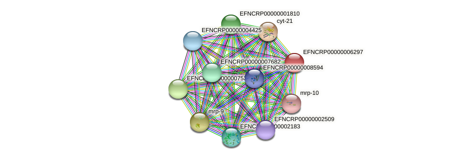EFNCRP00000006297 protein (Neurospora crassa) - STRING interaction network