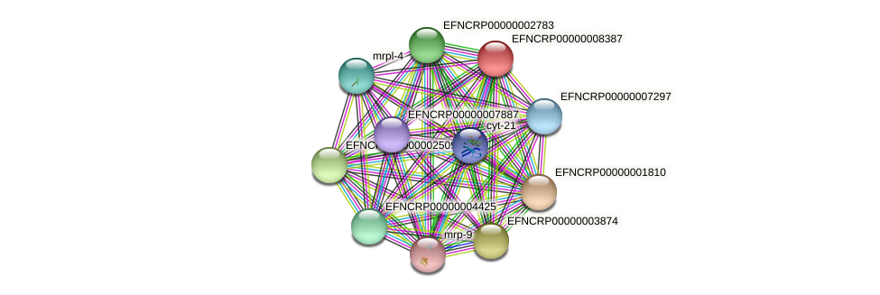 EFNCRP00000008387 protein (Neurospora crassa) - STRING interaction network