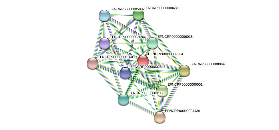 EFNCRP00000009364 protein (Neurospora crassa) - STRING interaction network