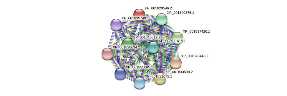 CC1G_00725 protein (Coprinopsis cinerea) - STRING interaction network