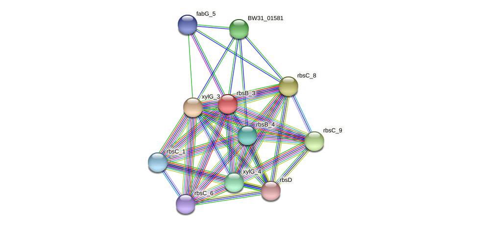 BW31_01580 protein (Pantoea agglomerans) - STRING interaction network