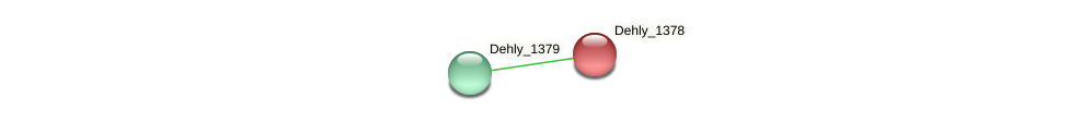 Dehly_1378 protein (Dehalogenimonas lykanthroporepellens) - STRING interaction network