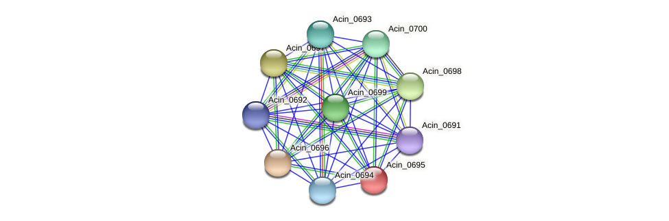 Acin_0695 protein (Acidaminococcus intestini) - STRING interaction network