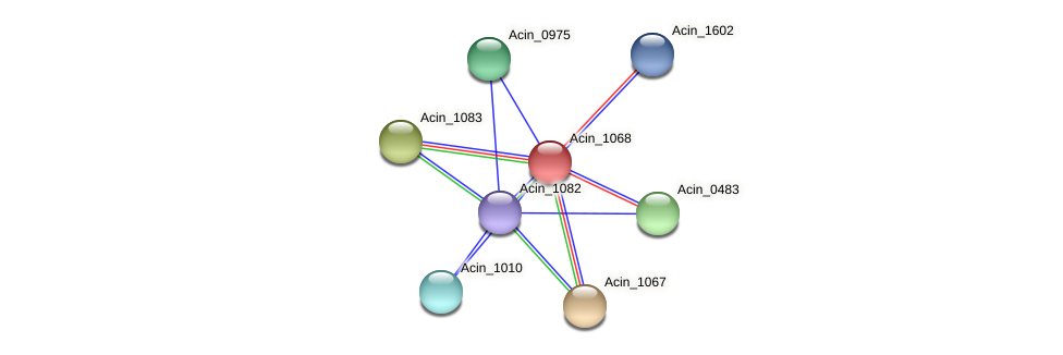 Acin_1068 protein (Acidaminococcus intestini) - STRING interaction network